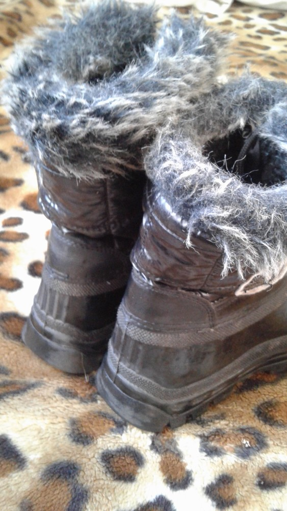 Резиновые цельные утепленные сапоги на зимнюю слякоть 31р(20,5см) фото №3