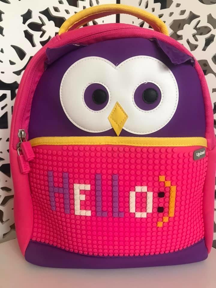 Upixel - рюкзак сова owl - с пикселями - яркий, вместительный фото №1
