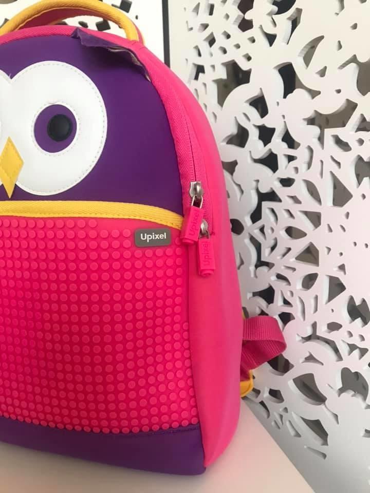 Upixel - рюкзак сова owl - с пикселями - яркий, вместительный фото №5