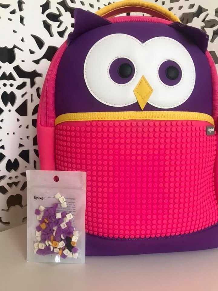Upixel - рюкзак сова owl - с пикселями - яркий, вместительный фото №6