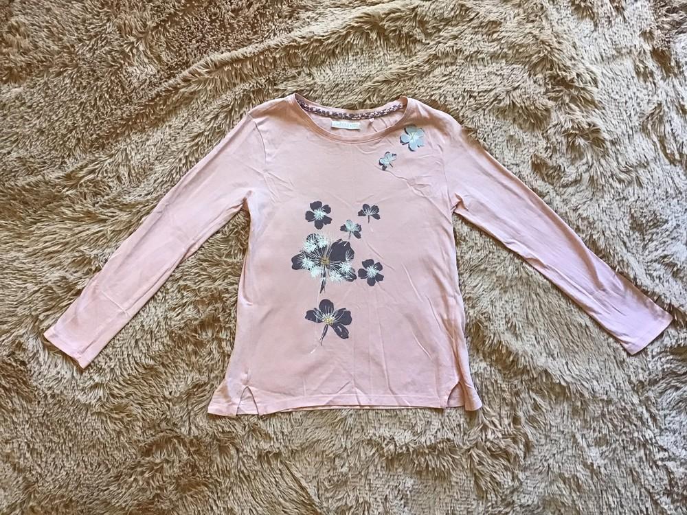 Розовая блузка/футболка с рукавом на девочку cool club фото №1