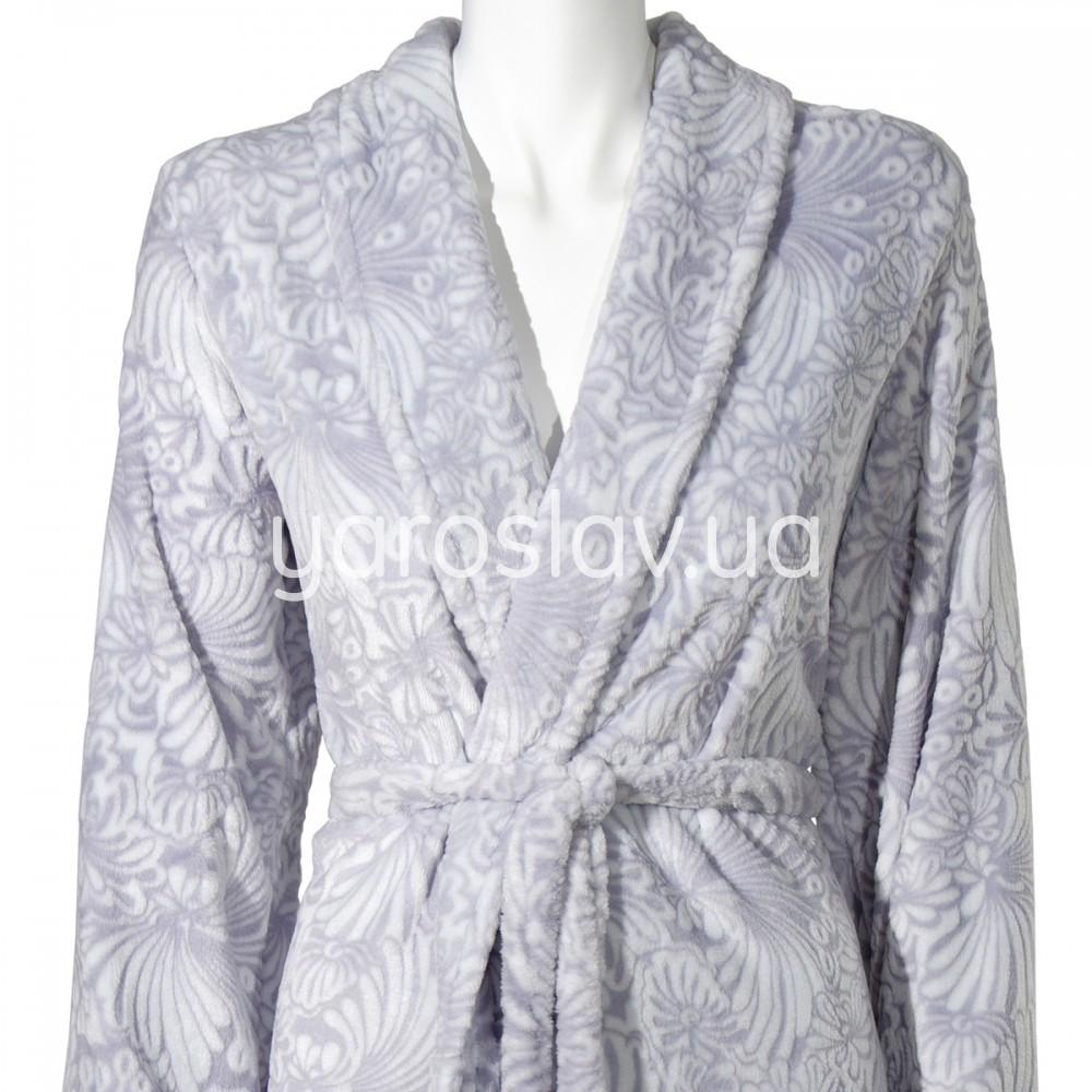 Женский флисовый халат р.50 фото №2