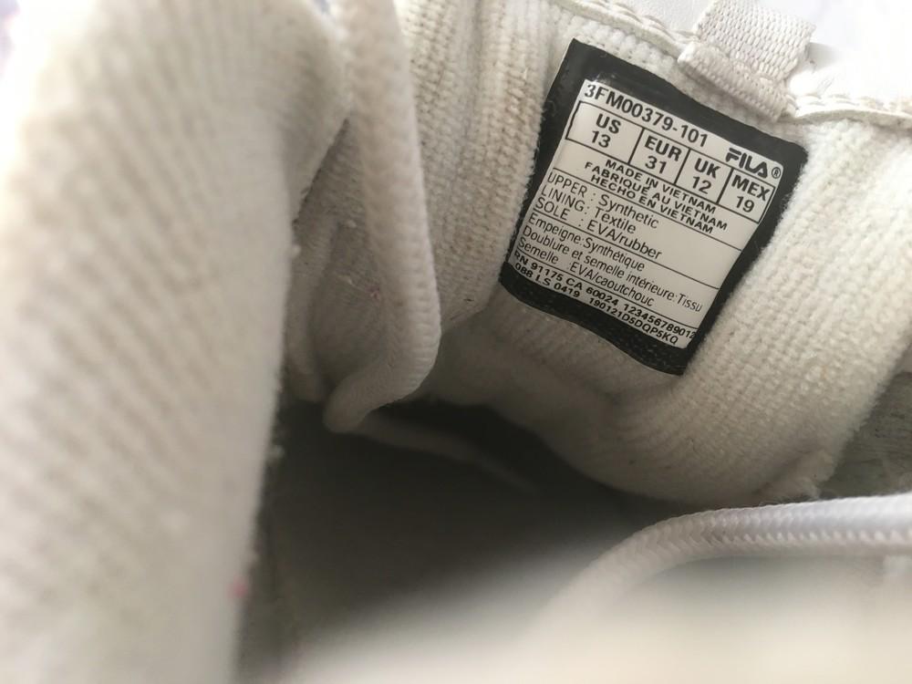 Оригинальные кроссовки fila (31 р) фото №10