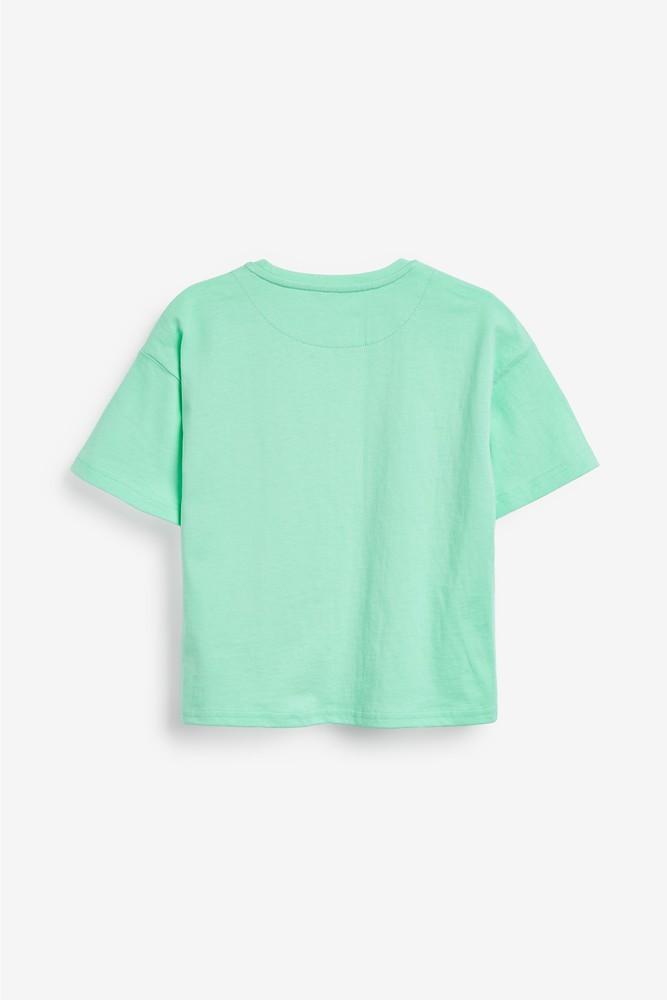 Пижама - next - футболка и шорты - фламинго, паетки перевертыши, р140/152 фото №3