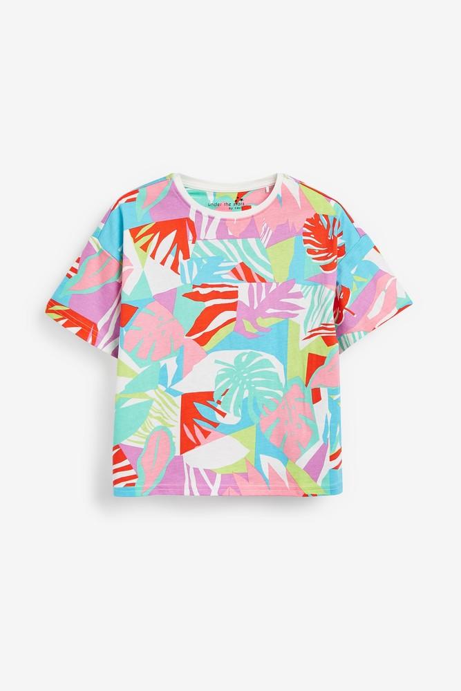 Пижама - next - футболка и шорты - фламинго, паетки перевертыши, р140/152 фото №7