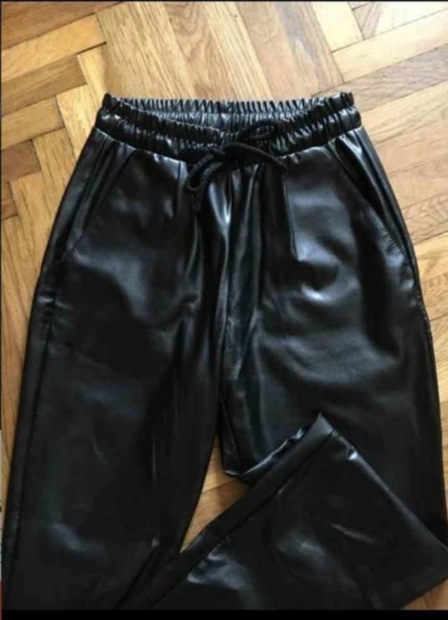 Штаны кожаные фото №2