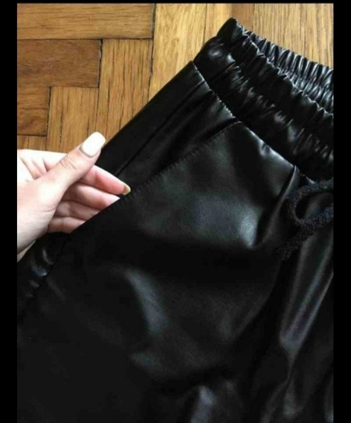 Штаны кожаные фото №4
