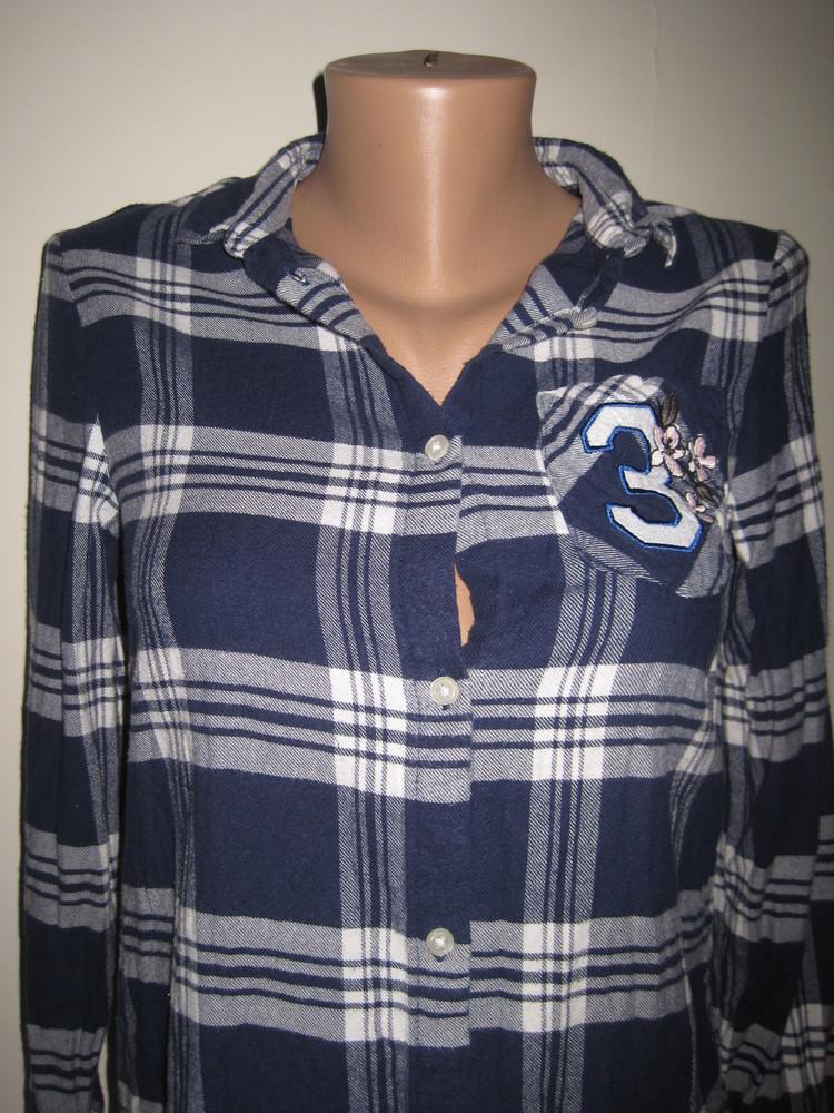 1/306. рубашка для девочки. на 10-11 лет, 146 см. (см. замеры). h&m. в отличном состоянии! фото №2