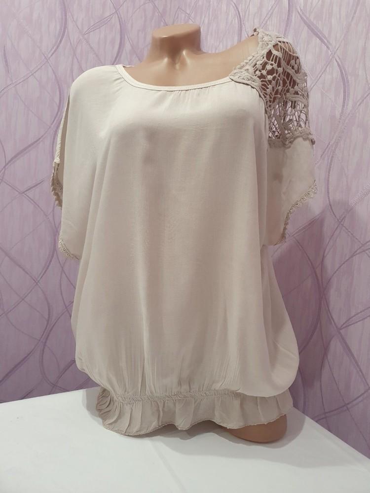 Итальянская женская футболка блузка unica. новая! в наличии два цвета фото №1