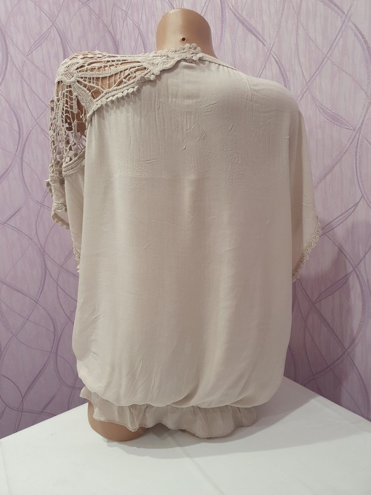Итальянская женская футболка блузка unica. новая! в наличии два цвета фото №2