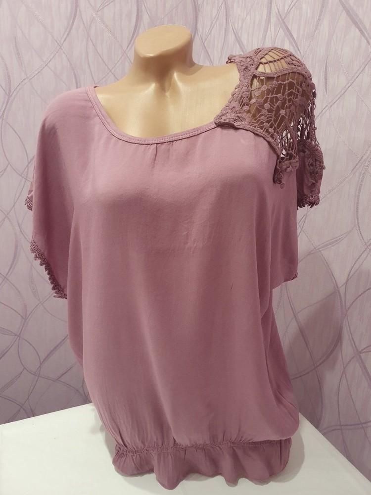 Итальянская женская футболка блузка unica. новая! в наличии два цвета фото №5