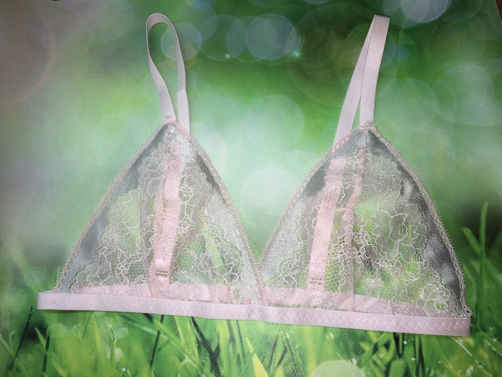 Жіночий бралетт розово-сірий фото №1